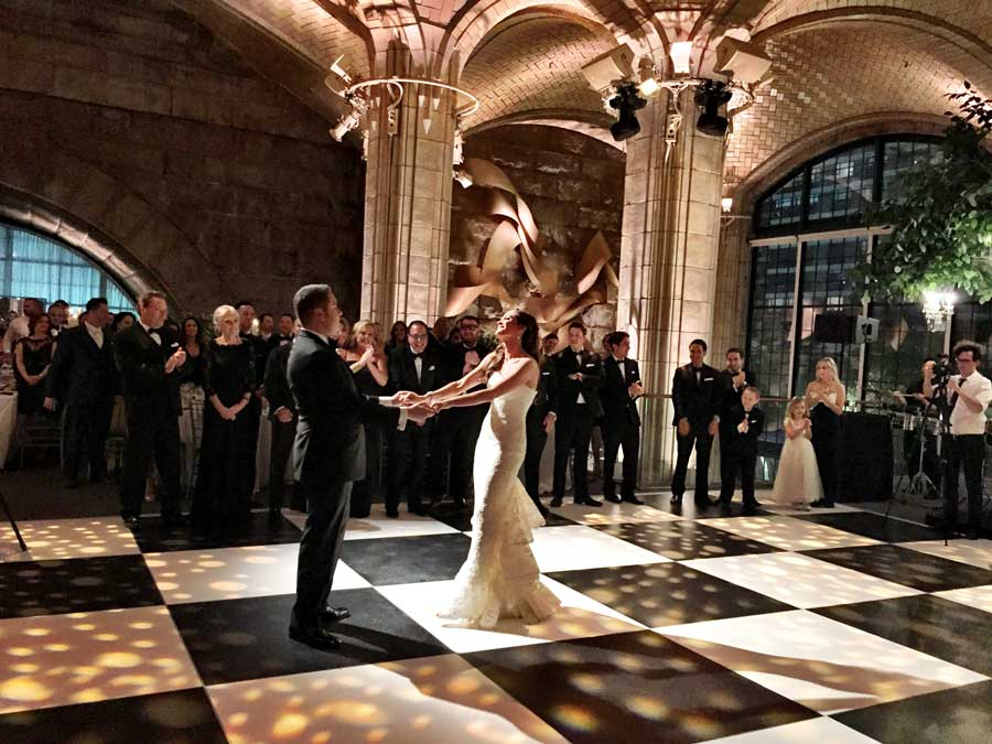 Spectacular Portable Black and White Dance Floor Rentals
